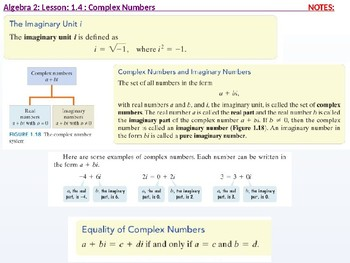 annotated: Algebra 2: CU 2: 1.4: Complex Numbers