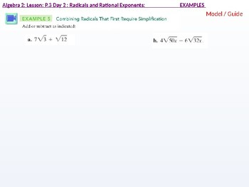 annotated: Algebra 2: CU 2: P.3 Day 2: Radicals and Rational Exponents