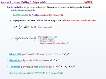 annotated: Algebra 2: CU 2: P.4 Day 1: Polynomials