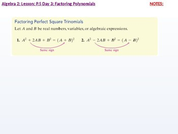 annotated: Algebra 2: CU 2: P.5 Day 3: Factoring Polynomials