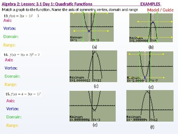annotated: Algebra 2: CU 3: 3.1 Day 1: Quadratic Functions