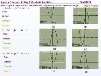 annotated: Algebra 2: CU 3: 3.1 Day 2: Quadratic Functions