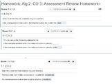 annotated: Algebra 2: CU 3: Review