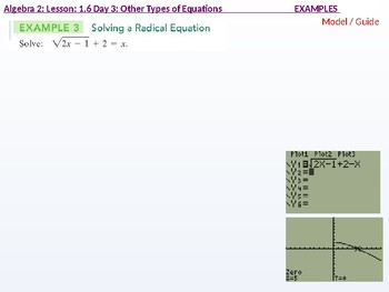 annotated: Algebra 2: CU 4 and 5: 1.6 Day 3: Other Types of Equations (radical)