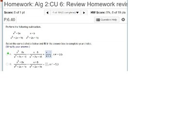 annotated: Algebra 2: CU 6: Review: Rational Functions
