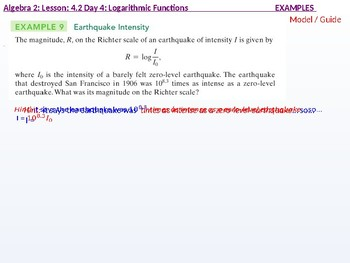 annotated: Algebra 2: CU 7: 4.2 Day 4: Logarithmic Functions