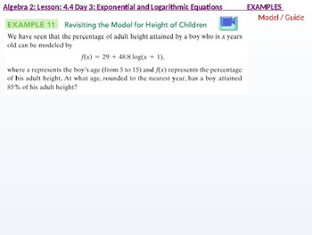 annotated: Algebra 2: CU 7: 4.4 Day 2: Exponential and Logarithmic Equations