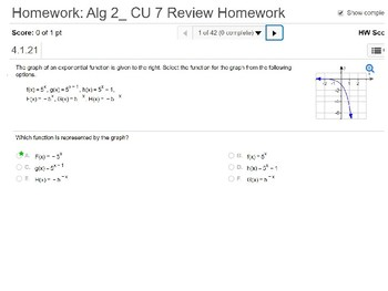 annotated: Algebra 2: CU 7: Review: Exponential and Logarithmic Functions