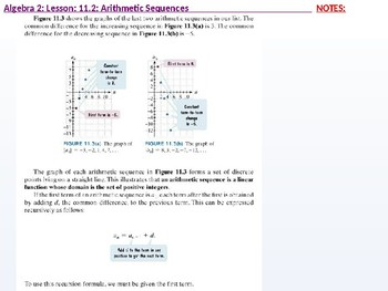 annotated: Algebra 2: CU 8: 11.2: Arithmetic Sequences