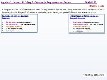 annotated: Algebra 2: CU 8: 11.3 Day 3: Geometric Sequences and Series