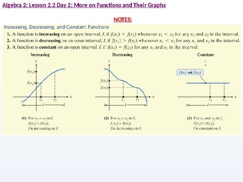 annotated: Algebra 2: CU 9: 2.2 Day 2: More on Functions and their Graphs