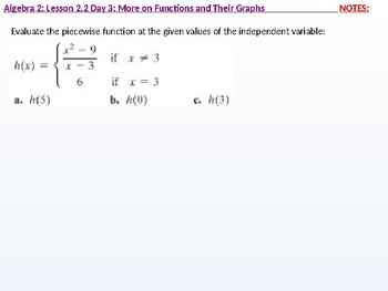 annotated: Algebra 2: CU 9: 2.2 Day 3: More on Functions and their Graphs