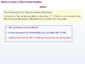 annotated: Algebra 2: CU 9: 2.7 Day 2: Inverse Functions