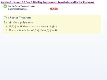 annotated: Algebra 2: Cu 4 and 5: 3.3 Day 2: Dividing Polynomials