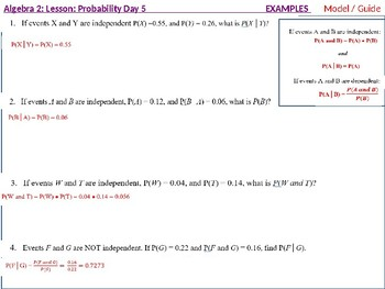 annotated: Algebra 2: Prob Day 5: Extend Understanding of Independece