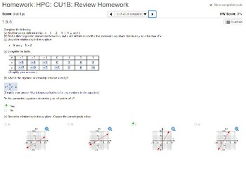 annotated: HPC: CU 1B: Review: Functions, Inverses and Modeling