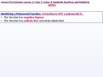 annotated: HPC: CU 2A: 2.1 Day 1: Linear and Quadratic Functions and Modeling