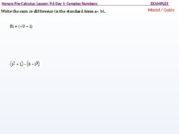 annotated: HPC: CU 2B: P.6 Day 1: Complex Numbers