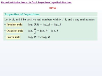 annotated: HPC: CU 4B: 3.4 Day 1: Properties of Logarithmic Functions