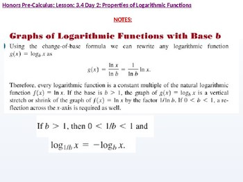 annotated: HPC: CU 4B: 3.4 Day 2: Properties of Logarithmic Functions