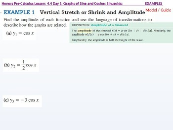 annotated: HPC: CU 6: 4.4 Day 1: Graphs of Sine and Cosine: Sinusoids