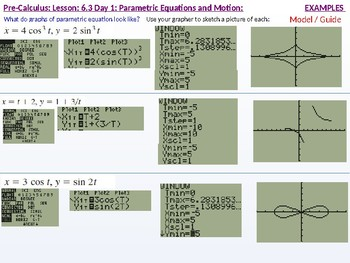 annotated: HPC: CU 9: 6.3 Day 1: Parametric Equations and Motion