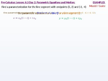annotated: HPC: CU 9: 6.3 Day 2: Parametric Equations and Motion