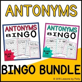 Antonyms Games One and Two Bundle {Black Ink}