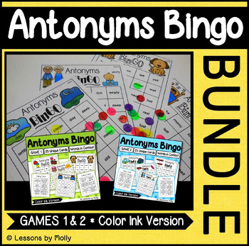 Antonyms Games One and Two Bundle {Color Ink}