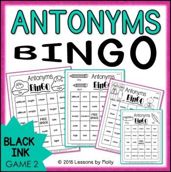 Antonyms Game Two {Black Ink}