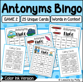Antonyms Game Two {Color Ink}