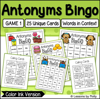 Antonyms Game One {Color Ink}
