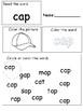 ap CVC word family hands-on worksheet packet differentiation for ESE/PreK/K
