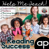 ap Word Family: Intervention, Homework, Morning Work, Centers,