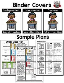 ap Word Family: Intervention, Homework, Morning Work, Centers,