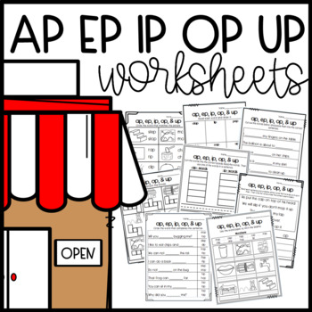 Ap Ip Op Word Family Worksheets Cut And Paste Sorts Cloze Read