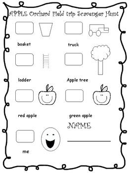 apple orchard scavenger hunt