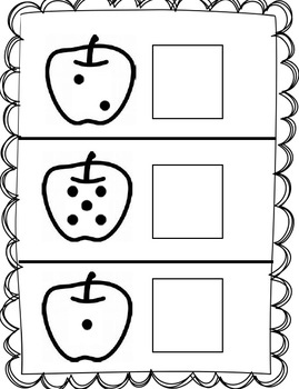 Counting Apple Seeds Subitizing worksheet