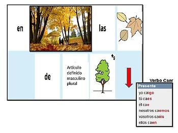 aprendo a hacer frases con el otoño