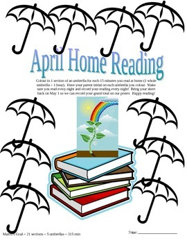 april home reading sheets