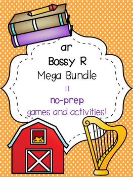 ar Bossy R Mega Bundle! [11 no-prep games and activities]