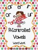 R-Controlled Vowel Word Work Freebie -ar