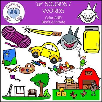 ar Sounds / Words Clip Art