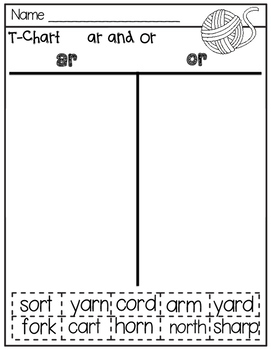 ar and or  Hands-on Spelling and Phonics