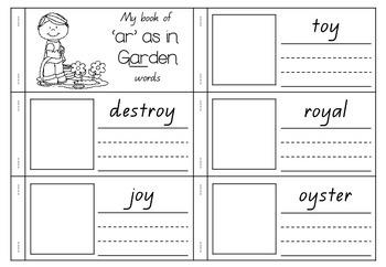 'ar' as in Garden - Spelling Activity Packet