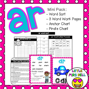 ar controlled vowel pack