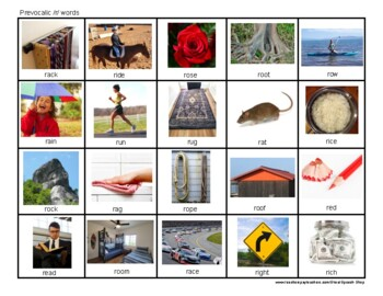 /ar/, /ear/, /ire/, /or/ Photo Articulation, Speech Therapy , R Sounds, Homework