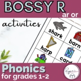 ar/or R controlled vowels word work activities