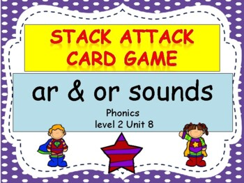 "ar & or sounds ""Stack Attack"" card game"