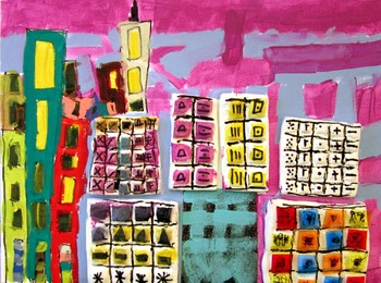 Architectural Mixed Media Project with Air Dry Clay